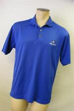 mens Nike Fit Dry Microfiber Shoreline Royal Blue golf polo shirt Medium Clean