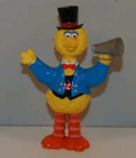 "3.5"" Big Bird w/ Top Hat & Megaphone PVC Plastic Action Figure Sesame Street"