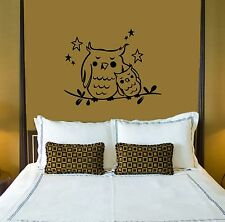 Wall Stickers Vinyl Decal Owl Sleep For Bedrooms Bird Animal ig1568