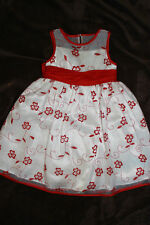 NWOT BONNIE JEAN 2 2T RED & WHITE VALENTINES DAY CHRISTMAS DRESS