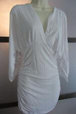 Boston Proper Blouse Top Small White Dolman Kimono Sleeve Casual Summer Boho