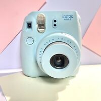 Fuji Instax Mini 8 Baby Blue! Full Working Order! Missing Battery Cover 😢 Lomo?