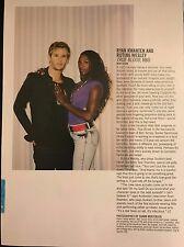Ryan Kwanten, Rutina Wesley 1pg NYLON magazine feature, clippings