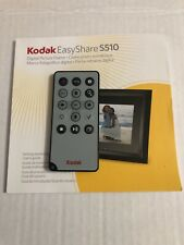 Kodak EasyShare S510 Digital Picture Frame Infrared Remote And Booklet