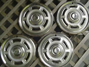 1965 1966 VINTAGE FORD 14 IN FALCON RANCHERO HUBCAPS WHEEL COVERS CENTER CAPS