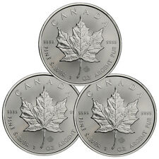 2017 Canada $5 1 oz. Silver Maple Leaf Lot of 3 Coins GEM BU SKU44166