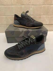 Men's Valentino Trainers - Size 9 - Blue Camo - Comes With Box And Bags