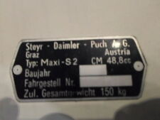 Typenschild Steyr Puch AG Schild id-plate Maxi S 2 Gang S2  Mofa s24