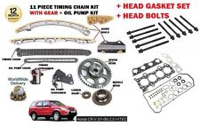 FOR HONDA CRV 2.0 2001> TIMING CHAIN KIT + OIL PUMP KIT + HEAD GASKET SET+ BOLTS