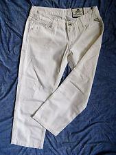 Replay Damen Jeans Capri White Denim W29/L26 extra low waist slim fit ankle leg