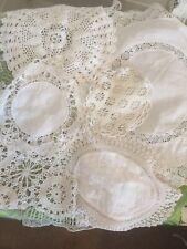 Vintage Doily Bundle Hand Crochet White Lace Cotton X 7 VGC Genuine