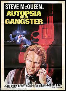 AUTOPSIA DI UN GANGSTER MANIFESTO CINEMA STEVE MCQUEEN POLIZIESCO 1958 POSTER