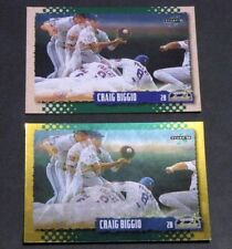 Lot (2) 1995 Score MLB CRAIG BIGGIO #423 GOLD RUSH & Base Houston Astros HOF