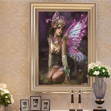 Purple Fairy 5D Round Full Drill Diamond Painting Embroidery DIY Needlework Art