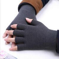 Frauen Winter Feste Fingerlose Halbfinger Warme Strickhandschuhe Mitten