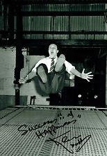 Ken DODD SIGNED Autograph 12x8 Photo AFTAL COA Diddy Men Tickling Stick Scouse