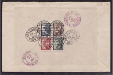 Deutsches Reich, Block 1, IPOSTA, R-Brief, verschiedene STEMPEL, selten (20870)