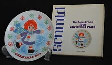 Raggedy Ann Christmas Plate 1976 By Schmid - Signed