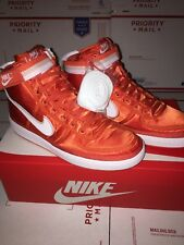 (318330-800) MEN'S NIKE VANDAL HIGH CORAL/WHITE Size 12 BRAND NEW WITHOUT BOX