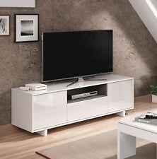 Mesa baja de television blanca 3 puertas mesa multimedia TV fabricada en España