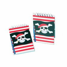 12 Pirate Notebooks Party Bag Fillers Skull and Cross Bones by AMSCAN