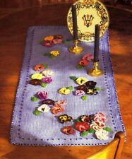 Pretty Pansies Galore Doily/Crochet Pattern Instructions Only
