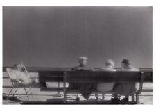 Postcard Three on a Bench, Rockaway Beach, New York 1982 by Barbara Alper BW50