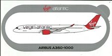 NOUVEAU A350-1000 Virgin Atlantic Airways STICKER AUTOCOLLANT AIRBUS