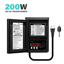 Malibu 200W Low Voltage Transformer Weatherproof for Outdoor Lighting Power Pack