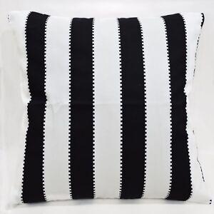 LL312a Black White Striped Pure Cotton Canvas Fabric Cushion Cover/Pillow Case