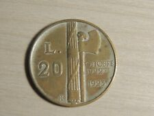 GRANDE MONETA DA 20 LIRE BENITO MUSSOLINI 1943
