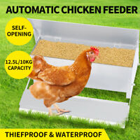 Traderight Automatic Chicken Feeder Self Open Poultry Alumnium Treadle Outdoor