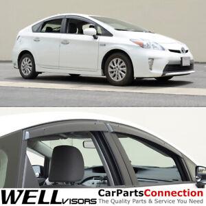WellVisors For Toyota Prius 2010-2015 Clip-on Rain Sun Guard Window Visors