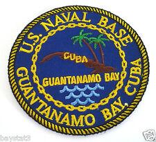 US NAVAL BASE GUANTANAMO BAY CUBA  Military Veteran Biker Patch PM0641 EE