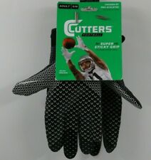 Cutters Football Black Game Day Receiver Gloves 1 Pair Size Adult S/M NEW