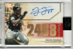 FRANK THOMAS 2020 Topps Luminaries AUTO #3/10 Hit Kings CHICAGO White Sox Signed