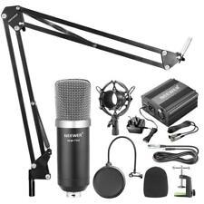 Neewer Nw-700 Condenser Microphone Kit -black Mic Black 48v Phantom Power Supply