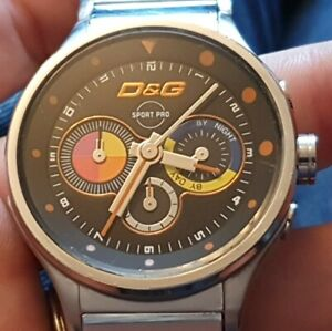 D&G TIME WATCH (DOLCE & GABBANA) MENS SPORT PRO DW0209 CHRONOGRAPH WATCH