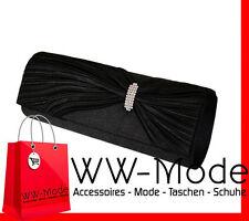 Abendtasche Schwarz Black  Damentasche Tasche Clutch Hochzeit Brauttasche Hand