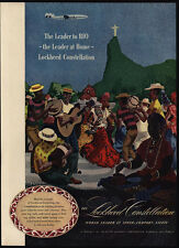 1947 LOCKHEED Constellation Airplane - RIO DE JANEIRO Brazil - CHRIST VINTAGE AD