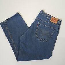 Levi's 505 Regular Fit Mens Jeans 42x30 Light Blue Denim 100% Cotton Gents