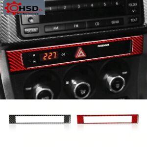 Carbon Fiber Center Control Panel Frame Cover Sticker For Subaru BRZ Toyota 86