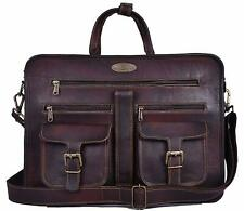 Real Leather Vintage Messenger Shoulder Men Women Satchel Laptop Briefcase Bag