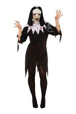 Ladies Zombie Nun Fancy Dress Costume Halloween Outfit UK 10-14