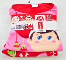 Elf on The Shelf Girls Christmas Fleece Pajamas PJs 3t   4 a045ce01f