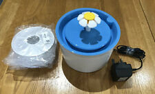 Cat Water Fountain Flower & 6 Spare Filters