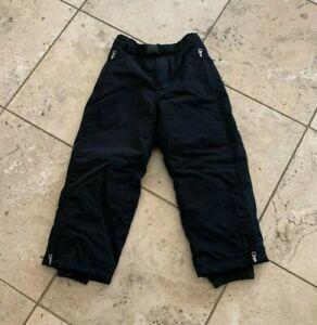 Youth Boys Girls GAP Solid Black 100% Nylon Ski Snow Pants Size S 5/6