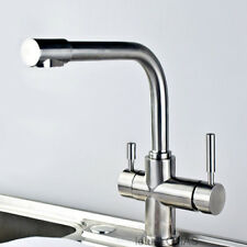 Stainless Steel Pure Water Direct Drinking Mixer Tap 3 Way Kitchen Sink Faucet