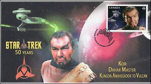 2016, Canada FDC, Star Trek, Kor, Dahar Master, 16-024