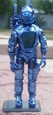NEW G.I.JOE CUSTOM BLACK MAJOR BLUE CHROME COBRA B.A.T.
